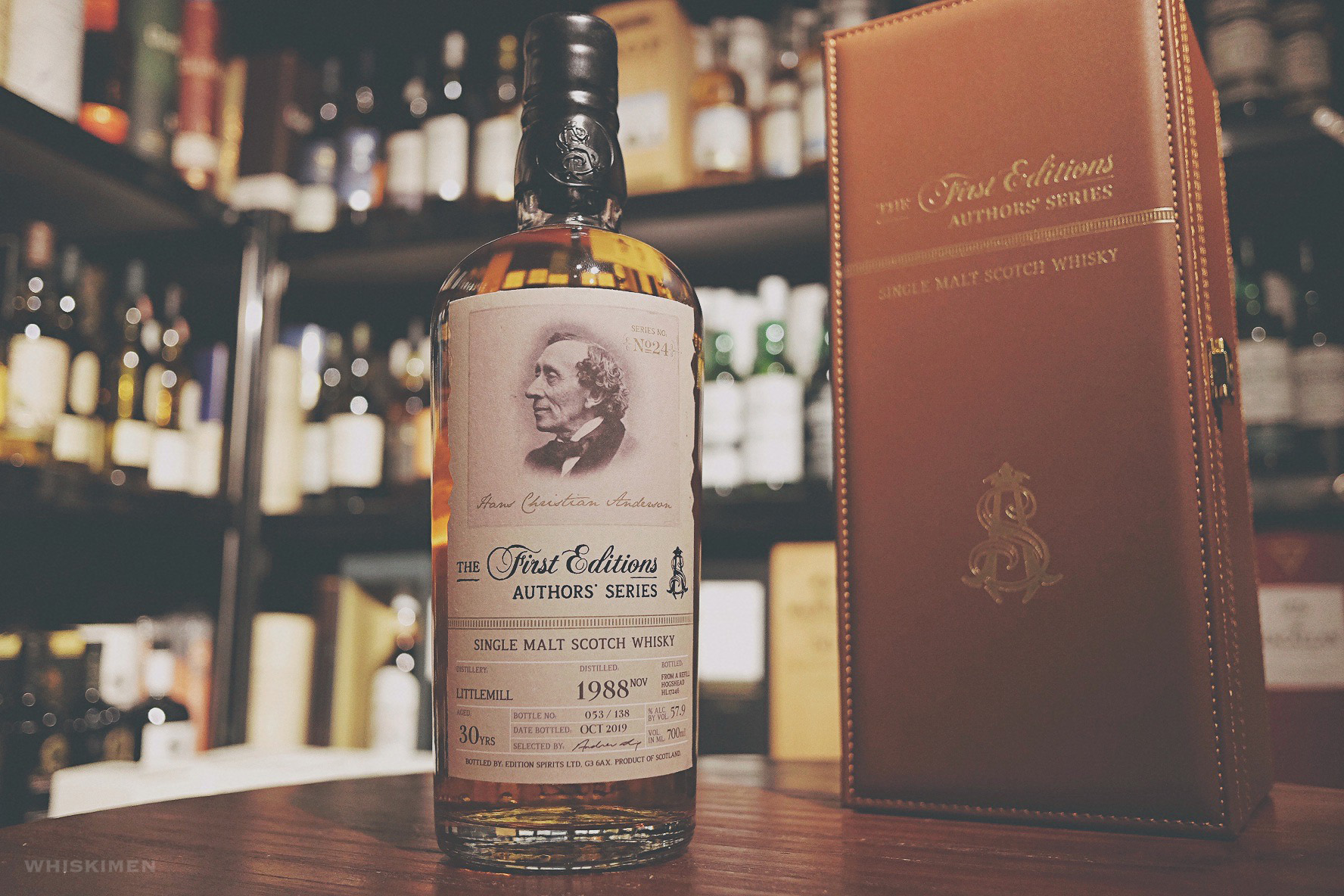 Edition Spirits The First Editions Authors' Series Littlemill 1988 30 Year Old Single Malt Whisky lowland closed distillery discontinued 作家, First Editions HL17246 Danish Hans Christian Andersen 安徒生