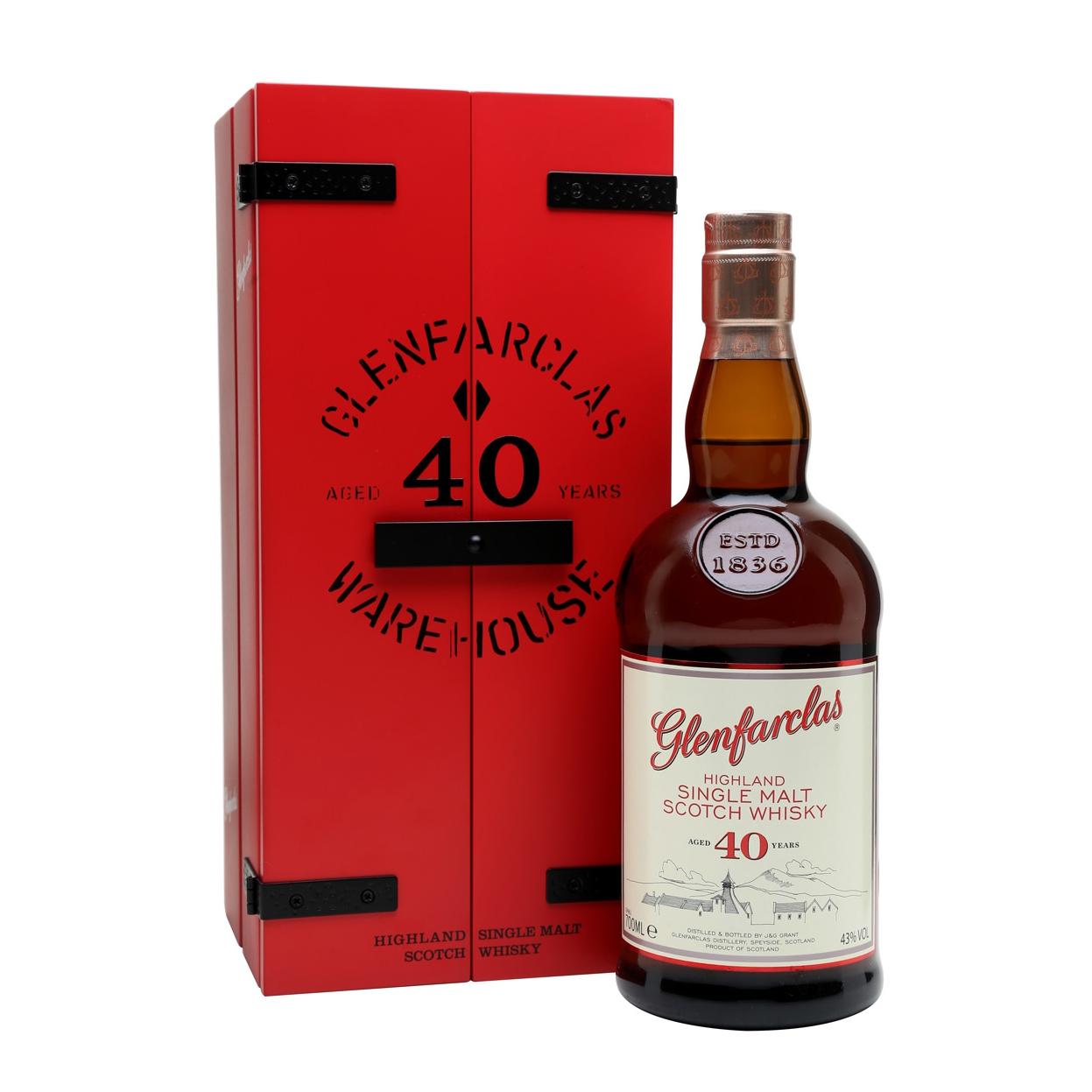 Glenfarclas cask strength single malt whisky scotch sherry speyside 40 years warehouse edition 2017 40年 威士忌