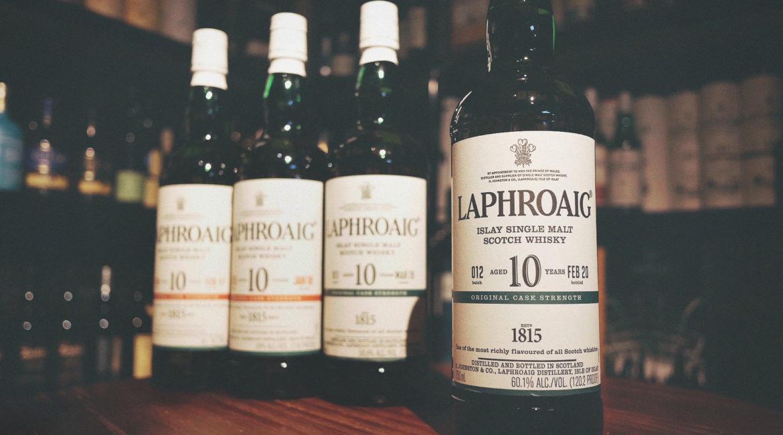 Laphroaig 10 Year Old Cask Strength Single Malt Whisky Batch 012