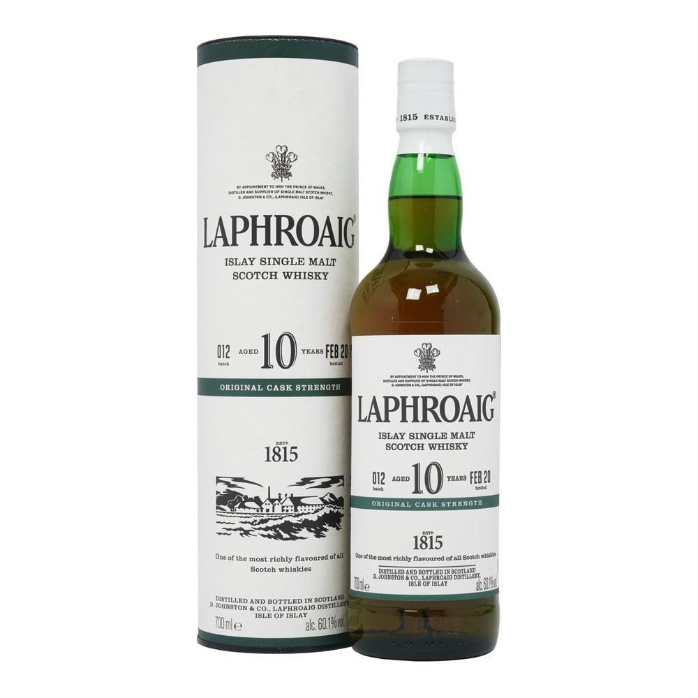 Laphroaig 10 Year Old Cask Strength Single Malt Whisky Batch 12