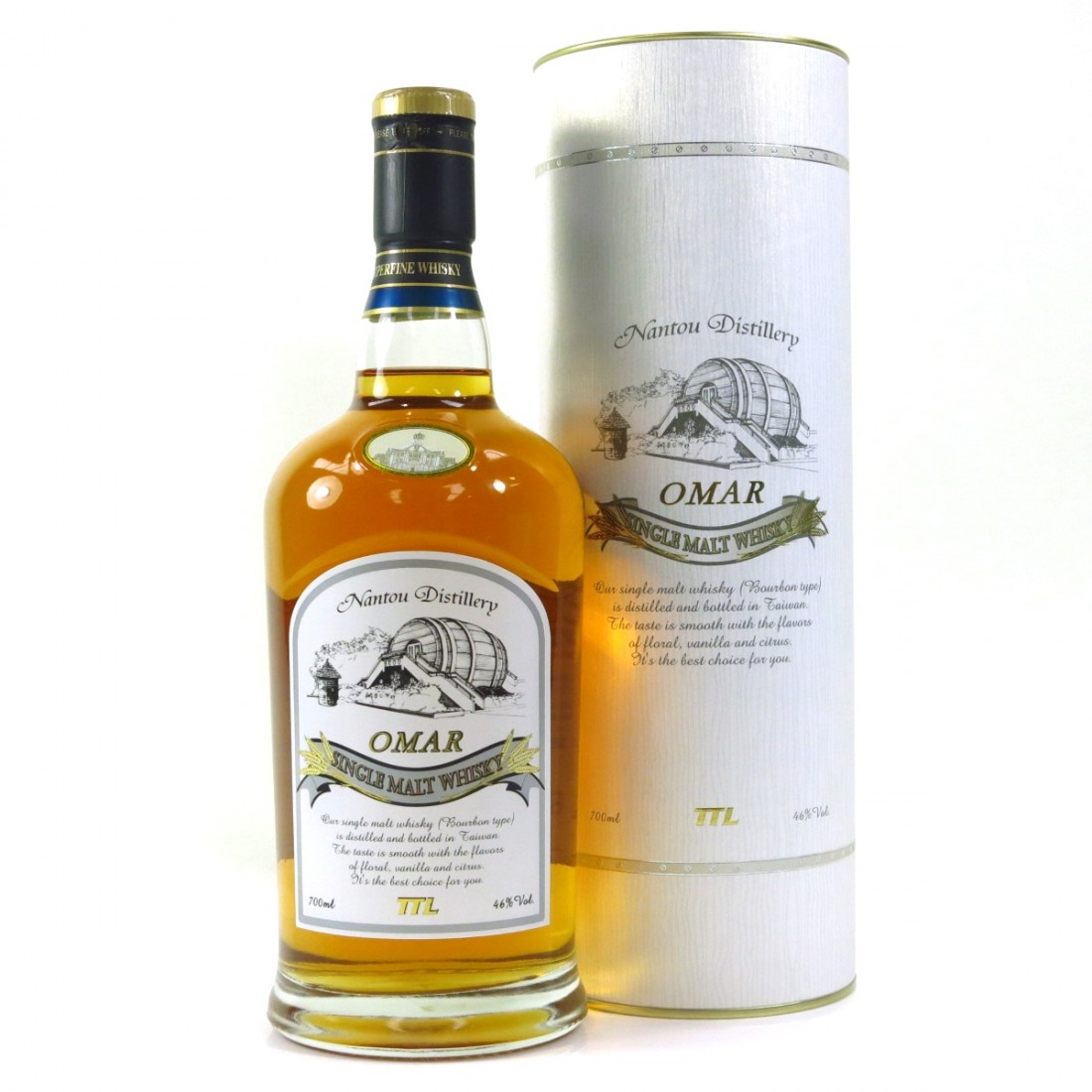 Nantou Omar Single Malt Whisky (Bourbon Cask) Taiwan