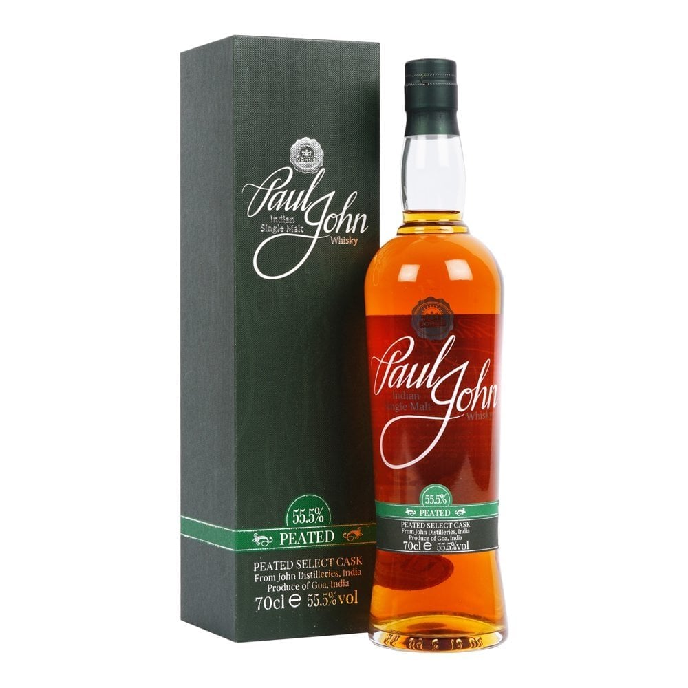 Paul John Peated Select Cask Single Malt Whisky India Indian