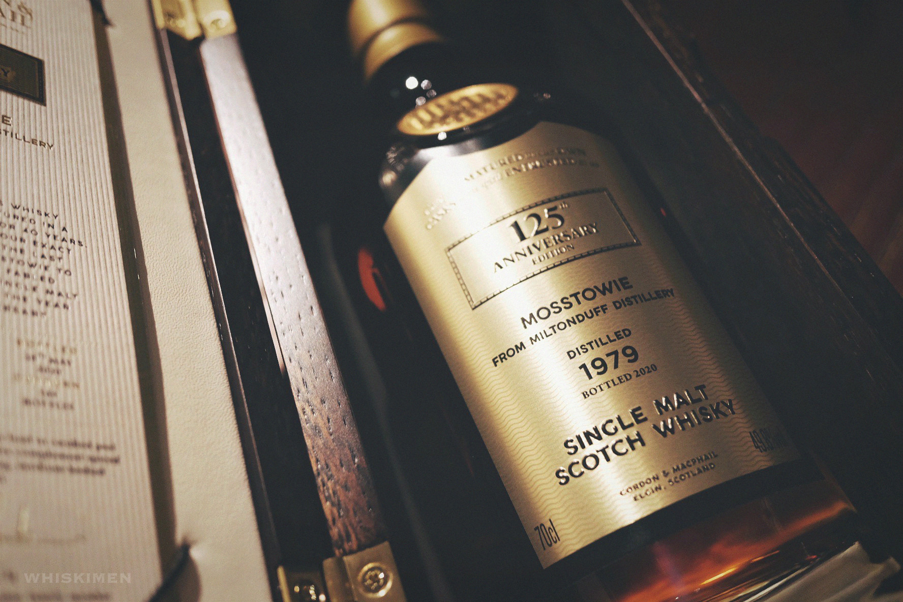 Gordon & MacPhail The Last Cask Series Mosstowie Miltonduff 1979 40 Year Old Single Malt Scotch Whisky, 125th Anniversary