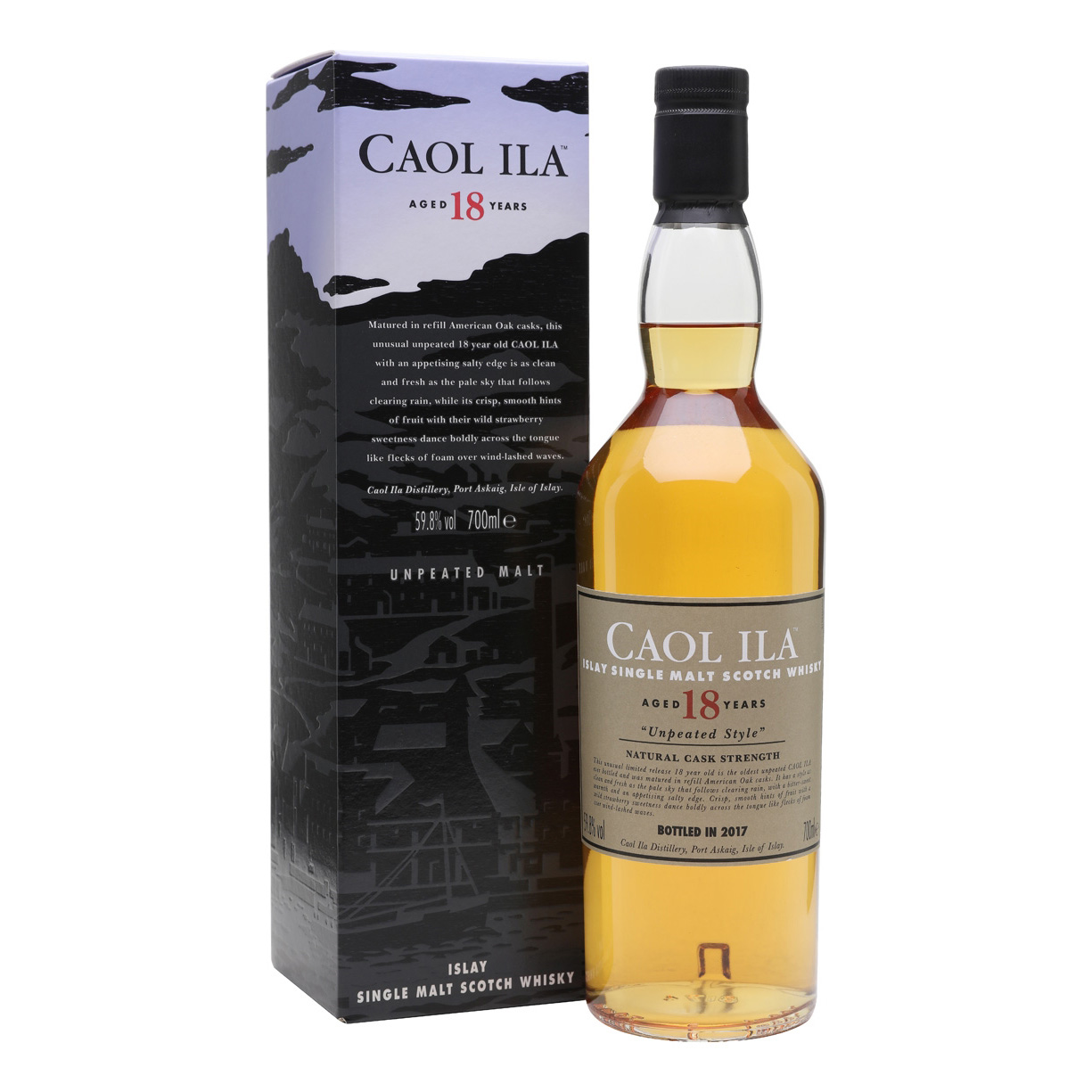 Caol Ila 18 Year Old Single Malt Scotch Whisky (Unpeated Cask Strength 2017 Edition)
