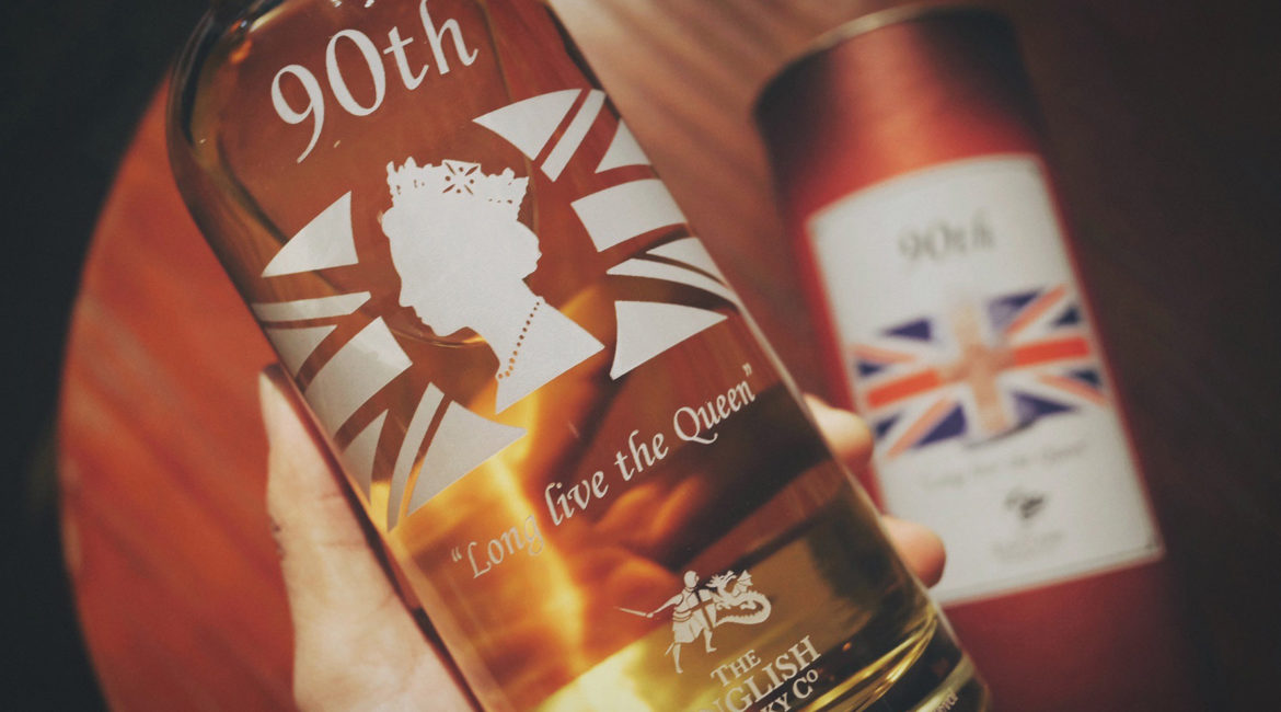 The English Whisky Co. English Single Malt Whisky (Queen Elizabeth II 90th Birthday)