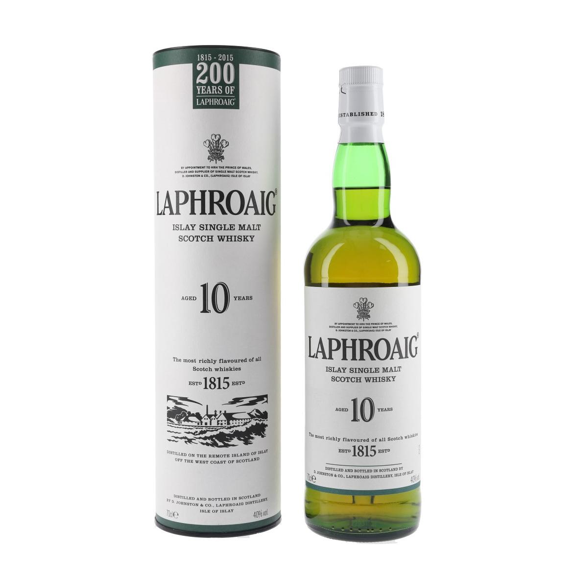 Laphroaig 10 Year Old Single Malt Scotch Whisky (200th Anniversary Edition)