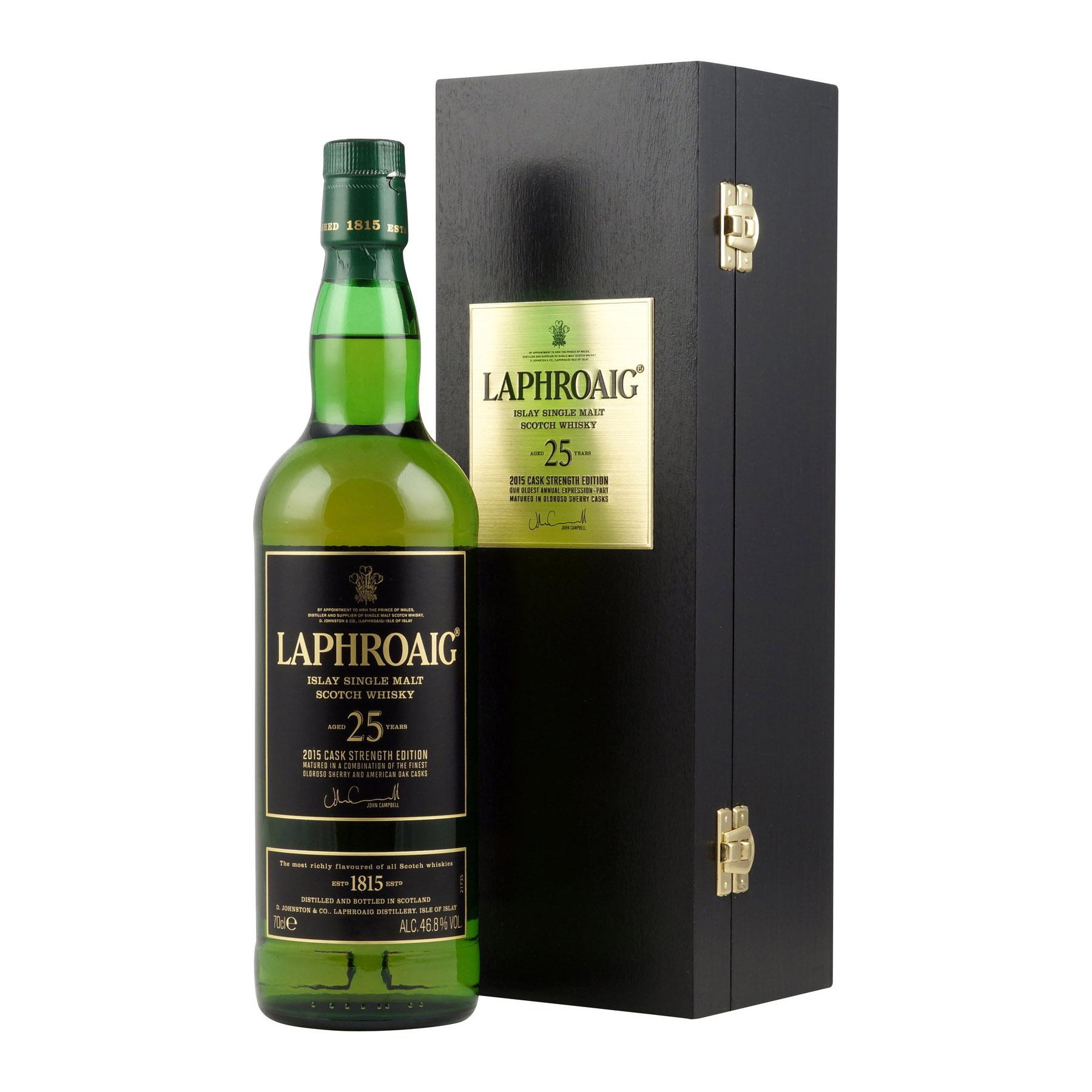 Laphroaig 25 Year Old Single Malt Scotch Whisky 2015 Edition